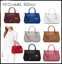 MICHAEL KORS★SUTTON SMALL SAFFIANO LEATHER SATCHEL 国内発送