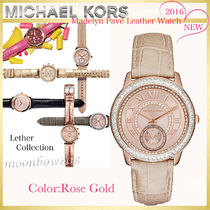 【新作☆日本未入荷】MICHAEL KORS  Madelyn Pave Watch レザー