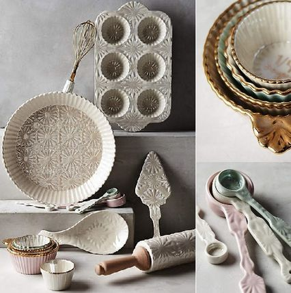 Anthropologie * Raised light Cup, light weight spoon set