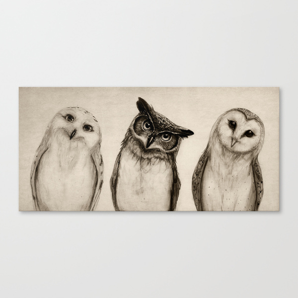 Society6◆スケッチキャンバス◆The Owl's 3 by Isaiah