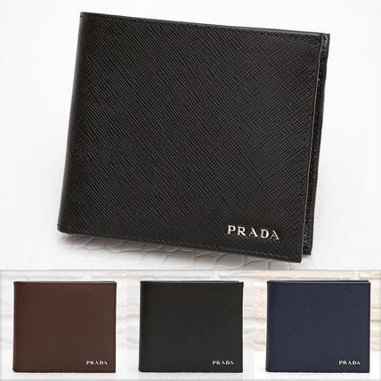 PRADA SAFFIANO mens by color two bifold wallet 2MO738