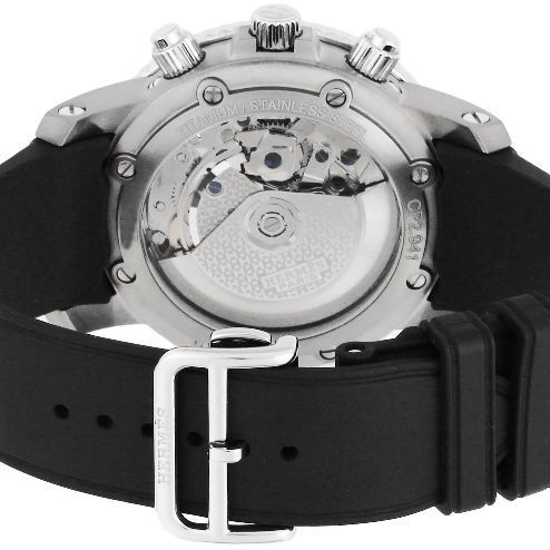 大人気 ☆HERMES☆ CLIPPER Mechanical Chronograph ウォッチ♪