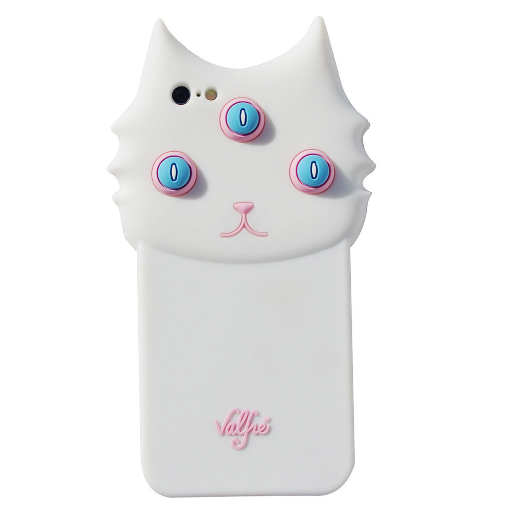 大人気  ★valfre  iPhone5/6/6plusケース★白ネコ  BLANCO