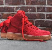 日本未入荷!! 入手困難!! Nike - AIR FORCE 1 HIGH SUEDE RED
