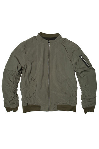 NEW!! Elwood - Hooded Flight Jacket MA-1 (Green/Black)