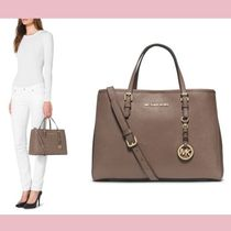 【Michael Kors】セール★レザートートJet Set Travel(M)DUNE