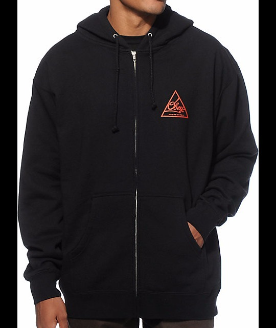 【送料無料】 Obey Next Round Zip Up Hoodie フーディ