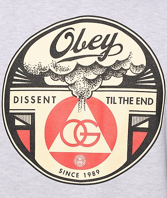 【送料無料】 Obey Dissent Til The End Hoodie フーディ