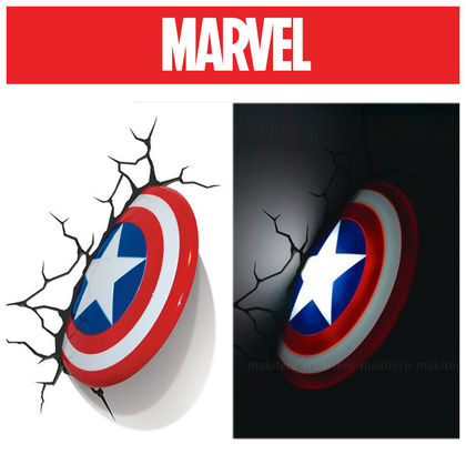 Marvel play hearts-packed wall 3D Deco light Captain America