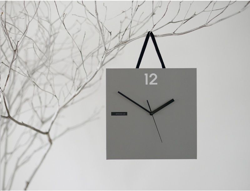 Paper Bag WALL CLOCK   Gray