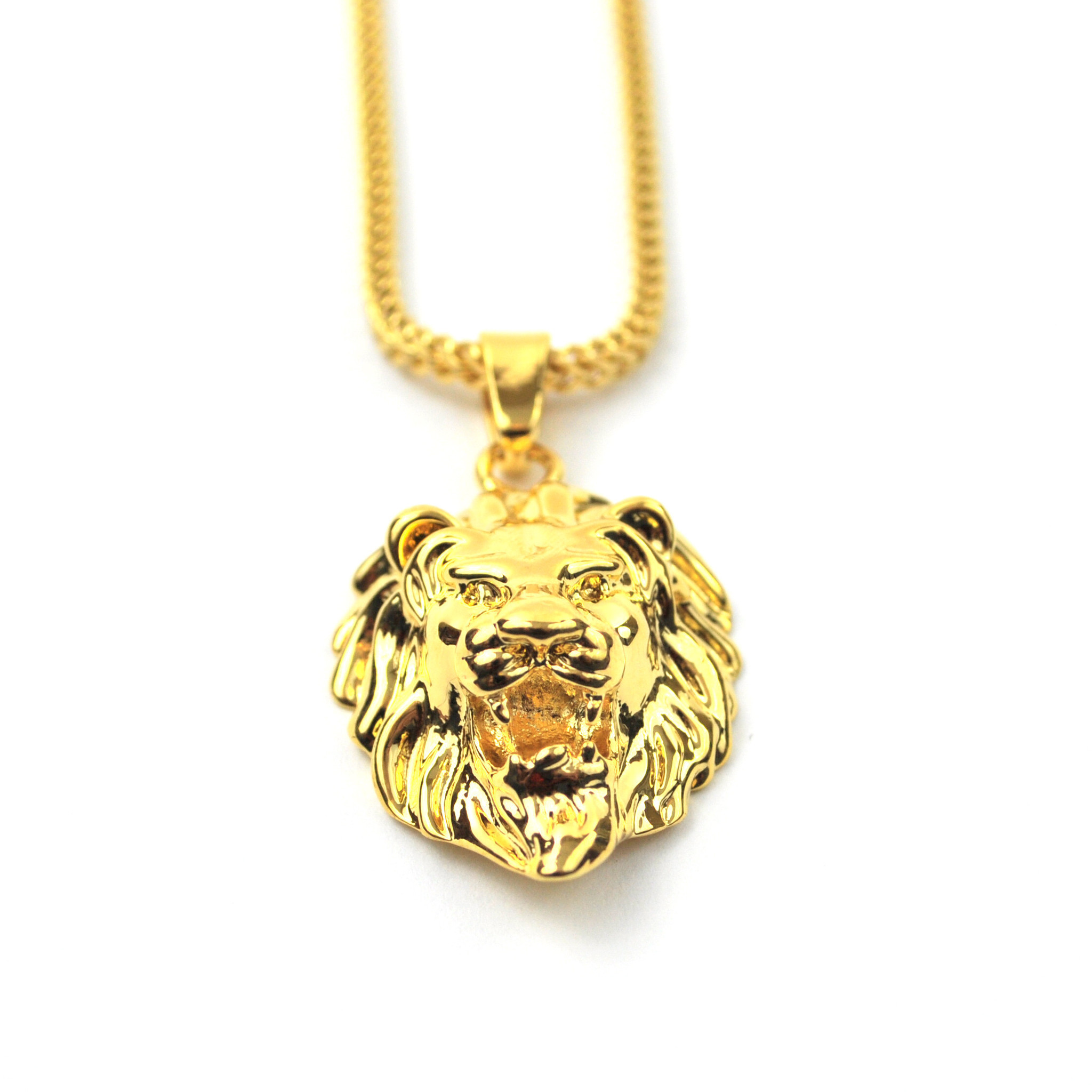 日本未 tyga愛用【THE GOLD GODS】Lion Head Necklace