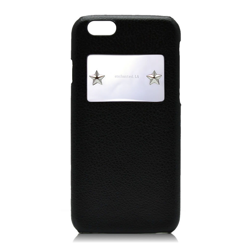 【enchanted.LA】STAR STUDDED MIRROR PLATE iPhone CASE SILVER