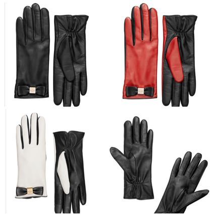 Limited sale shipping & Kate Spade leather BOW GLOVES