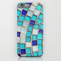 Society6 ケース Blue Tiles - an abstract photograph