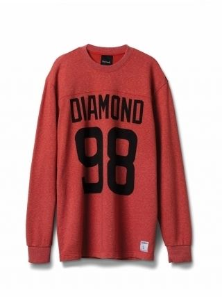 Diamond SUPPLY CO. REGGIE L/S TEE HEATHER RED