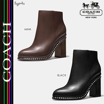 ★COACH★セール!太めヒール ショートブーツ☆JUSTINA BOOTIE♪