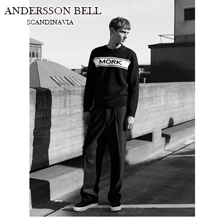 【ANDERSSON BELL】正規品★Crew Neck Sweater  BLACK(追跡配送)