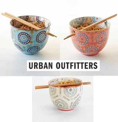 Urban Outfitters 食器(皿) New!国内発送UO*Medallion Noodle お箸&ボウルのセット♪