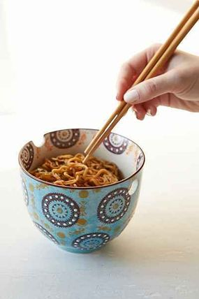 Urban Outfitters 食器(皿) New!国内発送UO*Medallion Noodle お箸&ボウルのセット♪(3)
