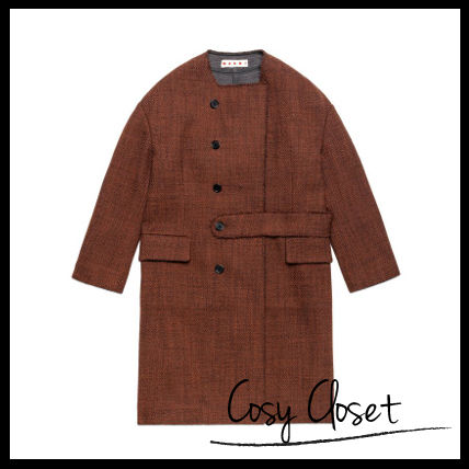 Sale!!MARNI 15AW☆TAPED COAT IN WITH HALF-BELT ON THE INSIDE