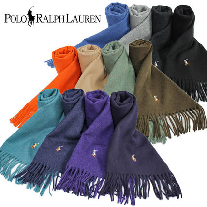 ★MADE IN ITALY★POLO RALPH LAUREN ウール100%のマフラー♪