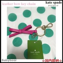 【kate spade】日本未入荷☆ leather bow key chain 国内即納