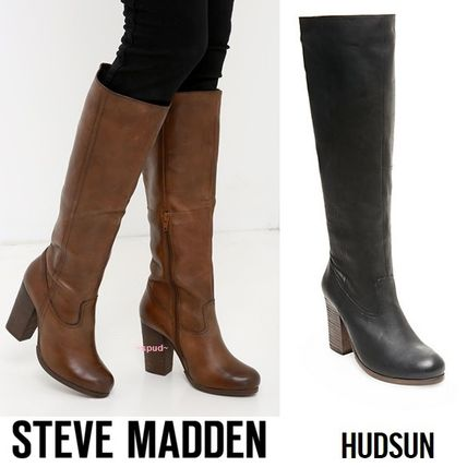 And HUDSUN the Steve Madden leather knee high boots