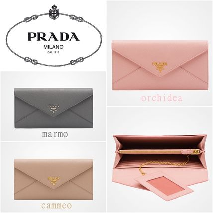 In stock now * PRADA letter wallet 15-16AW * 1MH037