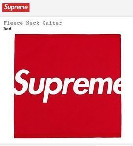 15A/W Supreme Fleece Neck Gaiter Woodland Red