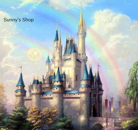 ディズニーNew Day at Cinderella's Castleアート36×36