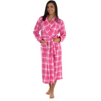 Frankie&Johnny あったか ローブ Pink on Pink Plaid L