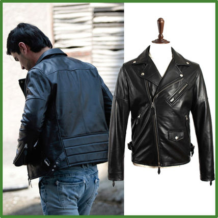 popular natural leather riders jacket man who knows fashion