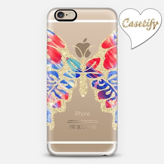 ☆Casetify☆ iPhoneクリアケース★GlitterButterfly 【送料込】