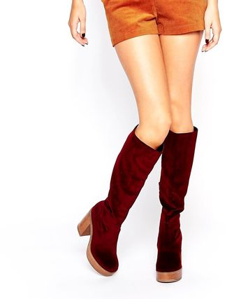 unreleased * ASOS * ' 70s-style knee high boots