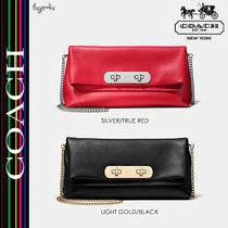 COACH★セール!スワッガー SWAGGER CLUTCH IN PEBBLE LEATHER♪