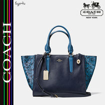 COACH★セール☆CROSBY CARRYALL COLORBLOCK EXOTIC LEATHER♪