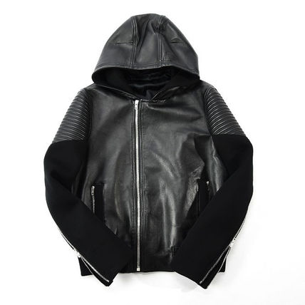GIVENCHY Biker jacket leather blouson loose fit