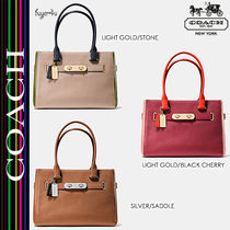 COACH★セール価格☆SWAGGER CARRYALL IN PEBBLE LEATHER♪