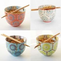 在庫有即発★Medallion Noodle Chopsticks + Bowl