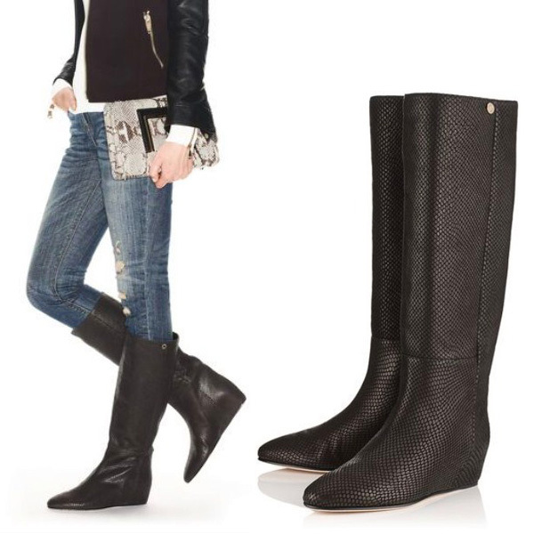 送料関税込★Jimmy Choo Olivia lizard knee Boots