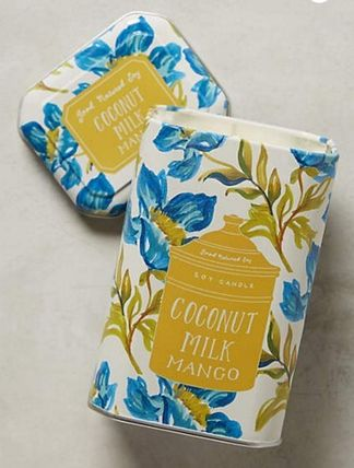 Anthropologie★Good Nature Soy Candle ココナッツマンゴー