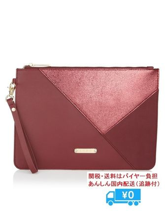 LIPSY LYDC OVERSIZED CLUTCH レッド×メタリック素材 関送込