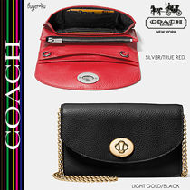 COACH★セール☆CLUTCH CHAIN WALLET IN PEBBLE LEATHER♪