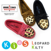 ■即納■MINNETONKA LEOPARD KILTY for children's#2343モカシン