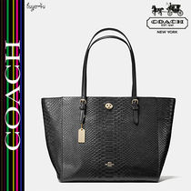 COACH★セール☆TURNLOCK TOTE IN SNAKE EMBOSSED LEATHER♪