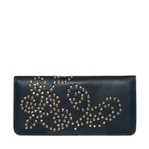 Lewis Leather wallet stud イパニマ 黒 長財布