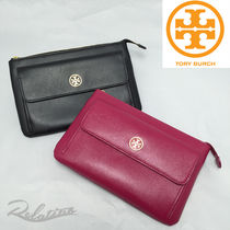 ☆即発可☆【Tory Burch】ROBINSON ZIP POUCH CLUTCH★2色★