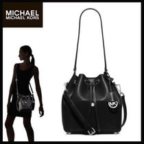 手元有!関税不要♪ Michael Kors☆Greenwich Medium Bucket Bag