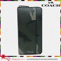COACH 75099 ACCORDION COATED CANVAS カモフラ柄 長財布