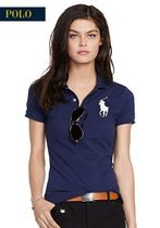 新作♪ 国内発送  4色 SKINNY-FIT BIG PONY POLO SHIRT